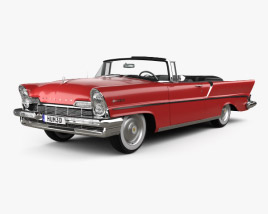 3D model of Lincoln Premiere Convertible 1957