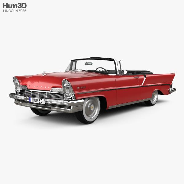 Lincoln Premiere Convertible 1957 3D model