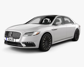 3D model of Lincoln Continental 2017