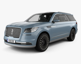 3D model of Lincoln Navigator concept 2016