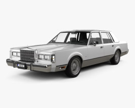 3D model of Lincoln Town Car 1989