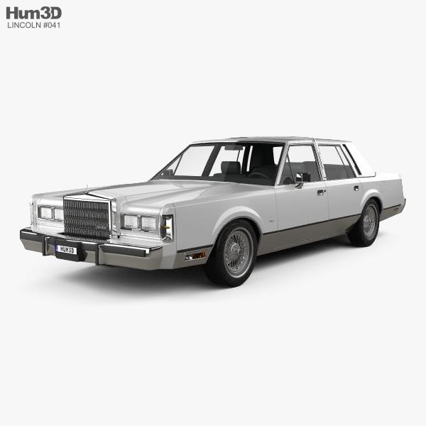 Lincoln Town Car 1989 3D model