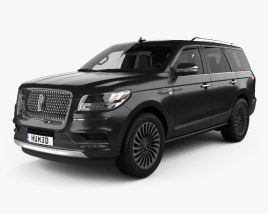 3D model of Lincoln Navigator Black Label 2017