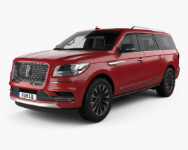 3D model of Lincoln Navigator L Select 2017