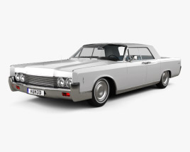 3D model of Lincoln Continental convertible 1968