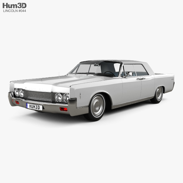 Lincoln Continental convertible 1968 3D model