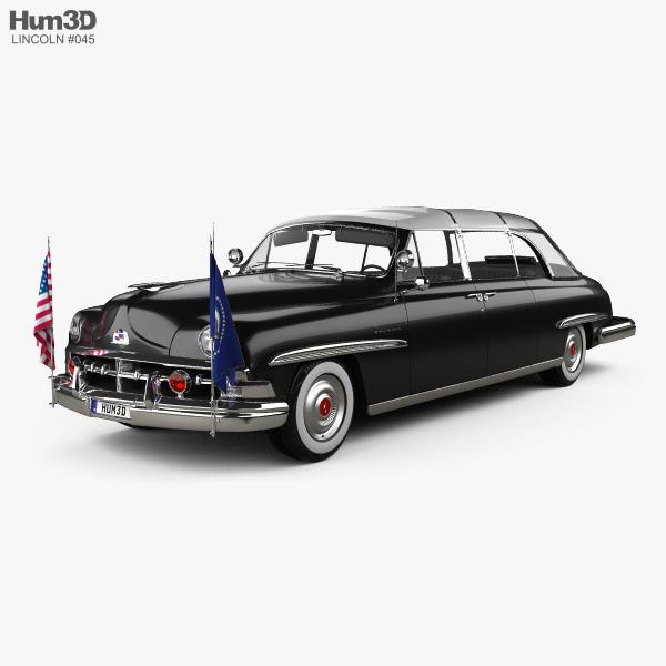 Lincoln Cosmopolitan Presidential Limousine 1950 3D model