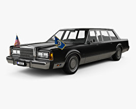 3D model of Lincoln Town Car Presidential Limousine 1989