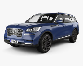 3D model of Lincoln Aviator 2018