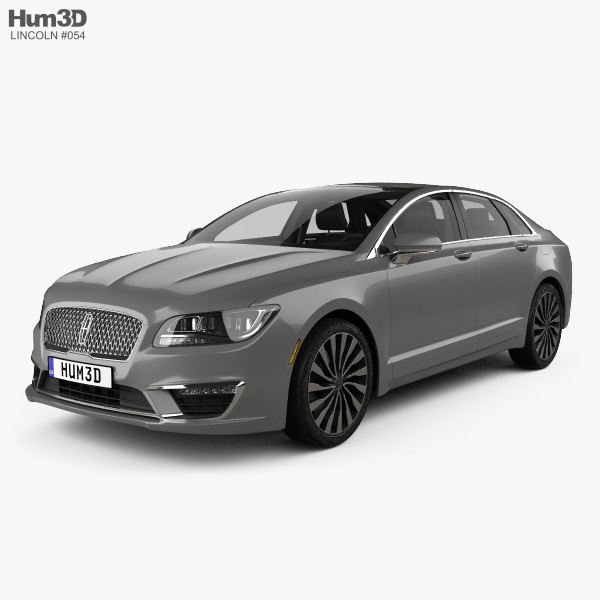 3D model of Lincoln MKZ with HQ interior 2017