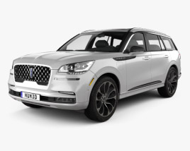 3D model of Lincoln Aviator Grand Touring 2019