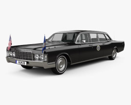 3D model of Lincoln Continental US Presidential State Car 1969