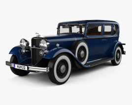 3D model of Lincoln KB Limousine with HQ interior 1932