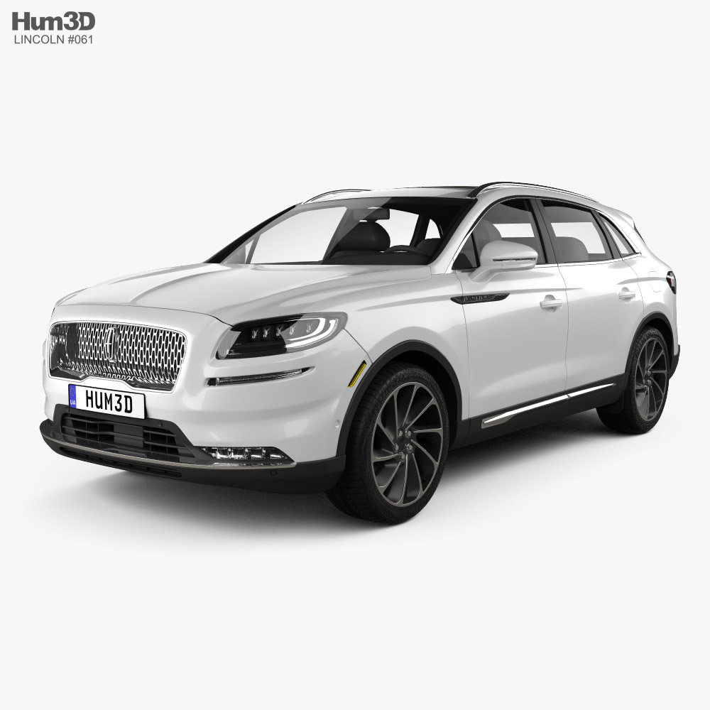 3D model of Lincoln Nautilus 2021
