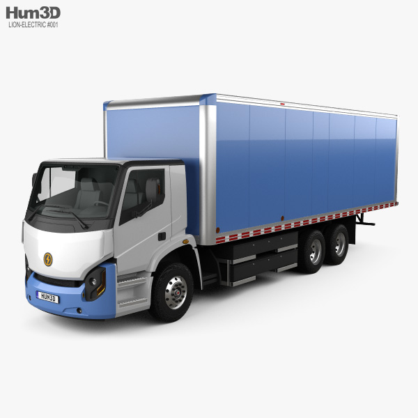 Lion Electric 8 Box Truck 2019 3D model