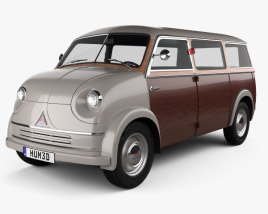3D model of Lloyd LT 500 1955