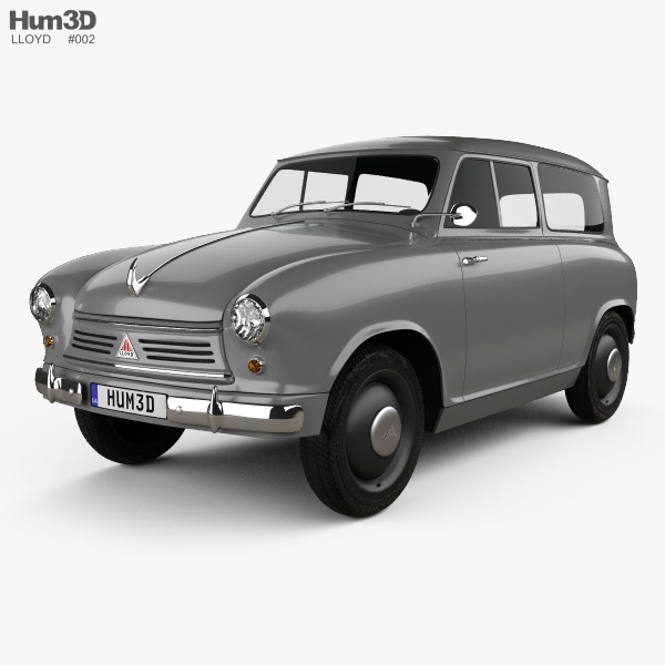 3D model of Lloyd LS 400 1953