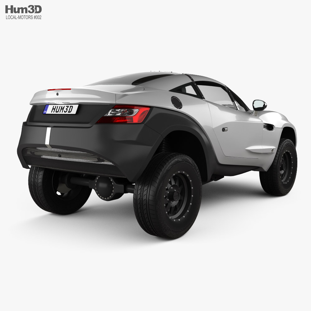 Local Motors Rally Fighter 2010 3d model back view