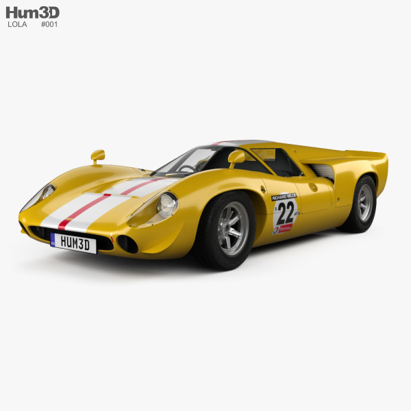 Lola T70 1967 3D model