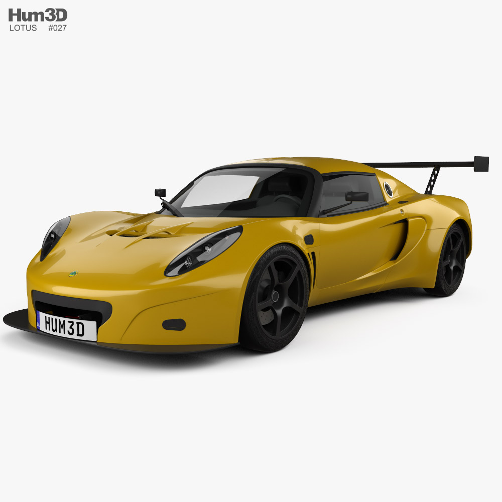 3D model of Lotus Exige GT3 2003