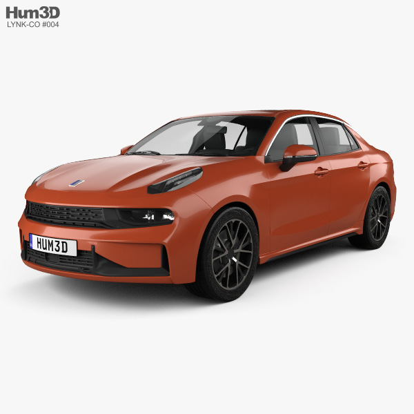 3D model of Lynk & Co 03 sedan 2018
