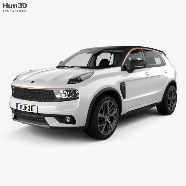 3D model of Lynk & Co 01 Sport with HQ interior 2016