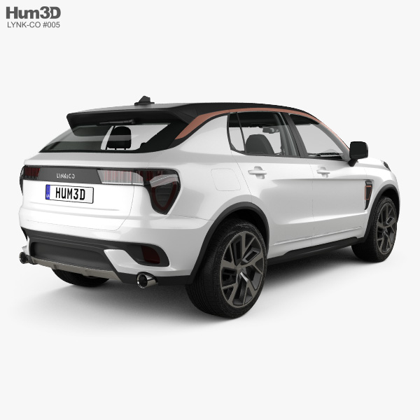 Lynk & Co 01 Sport with HQ interior 2016 3D model