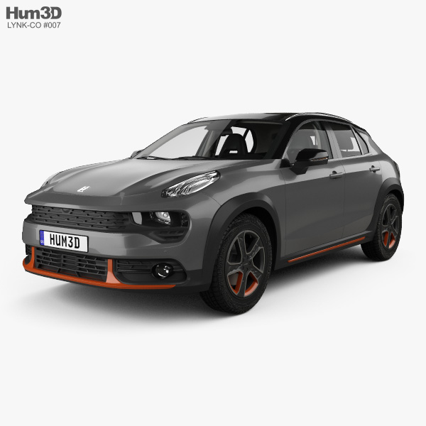 3D model of Lynk & Co 02 with HQ interior 2018
