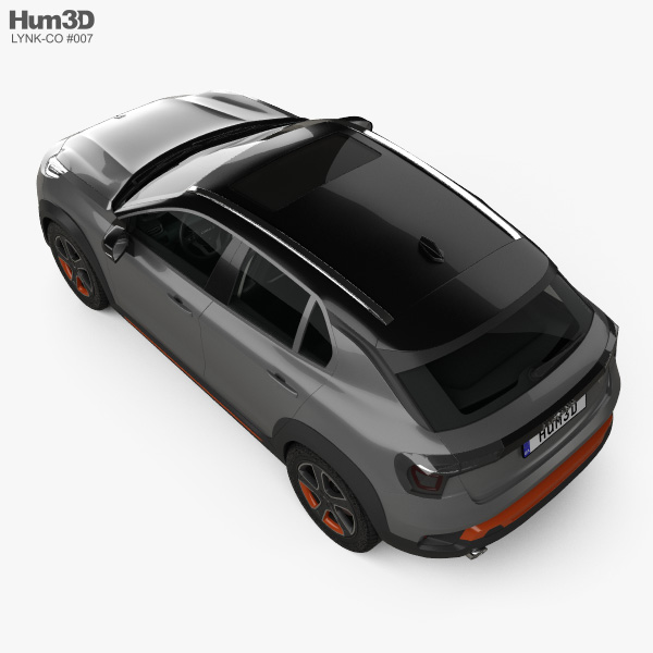 Lynk & Co 02 with HQ interior 2018 3D model
