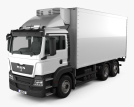 3D model of MAN TGS Refrigerator Truck 2012