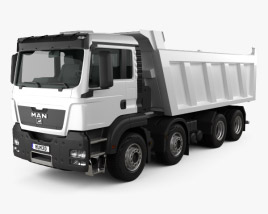 3D model of MAN TGS Tipper Truck 2012