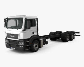 3D model of MAN TGS Chassis Truck 2012