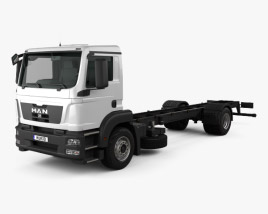 3D model of MAN TGM Chassis Truck 2-axle 2008