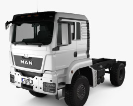 3D model of MAN TGS 4×4 L cab Tractor Truck 2007