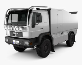 3D model of MAN L90 Rally Truck 2000