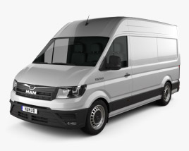 3D model of MAN TGE Panel Van L1H2 2017