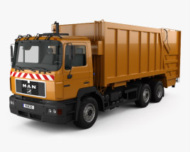 3D model of MAN F2000 Garbage Truck 1990
