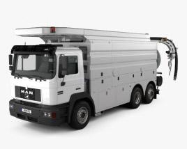 3D model of MAN F2000 Sewer Truck 1994