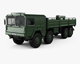 3D model of MAN KAT I Military Flatbed Truck 4-axle 1976