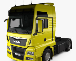 3D model of MAN TGX Tractor Truck 2-axle with HQ interior 2012