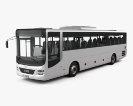 3D model of MAN Lion's Intercity Bus with HQ interior 2015