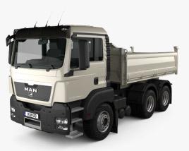 3D model of MAN TGS M Day Cab Meiller-Kipper D316 Tipper Truck 3-axle 2012