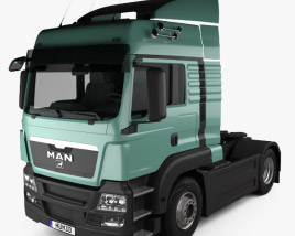 3D model of MAN TGS Tractor Truck 2-axle 2012