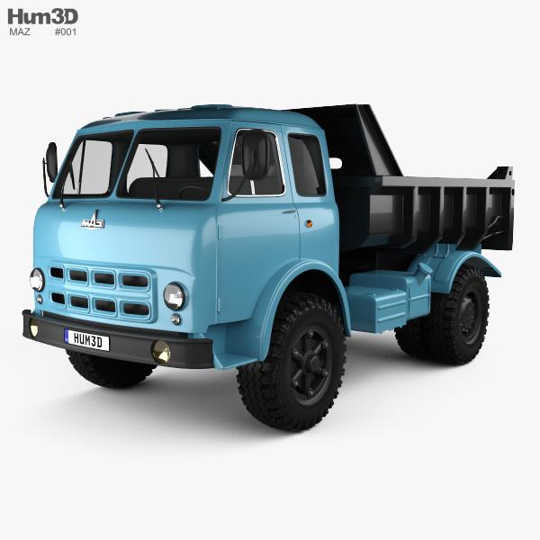 MAZ 503A Dump Truck 1970 3D model