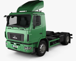 3D model of MAZ 5340 M4 Chassis Truck 2015