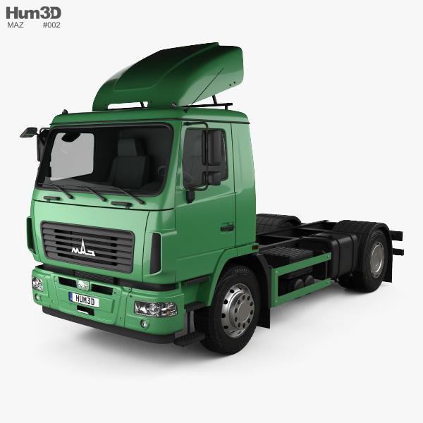 MAZ 5340 M4 Camion Châssis 2015 Modèle 3D