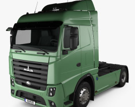 3D model of MAZ 5440 M9 Tractor Truck 2015