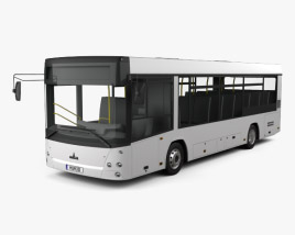 3D model of MAZ 226069 Bus 2016