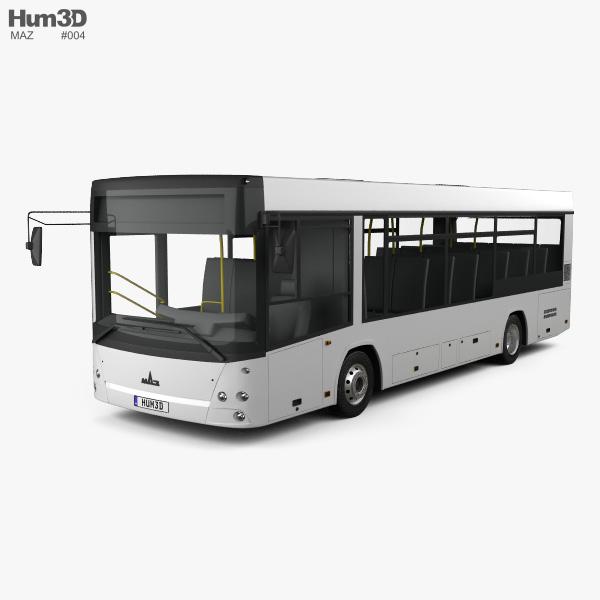 3D model of MAZ 226069 Bus 2016