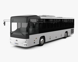 3D model of MAZ 231062 Bus 2016